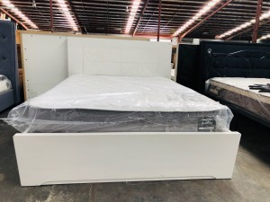 White Queen size gaslift bed