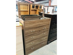 4 DRAWER MIRROR TOP TALLBOY