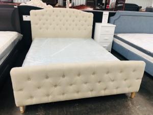 QUEEN BED - BI1731 BEIGE UPHOLSTERED BED (3 BOXES/BED)