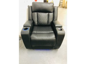 ORLEANS BLACK LEATHER RECLINER (JF7298/E-1S-L22-30) FACTORY SECOND