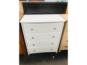 HAYLEY 4 DRAWER TALLBOY - SNOW