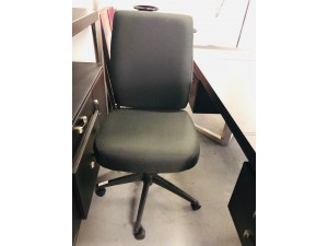 ERGOTECH HIGH BACK MANAGER OFFICE CHAIR - BLACK FABRIC #10813-020 NEW IN BOX
