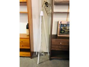 White/Brass Tripod Floor Lamp