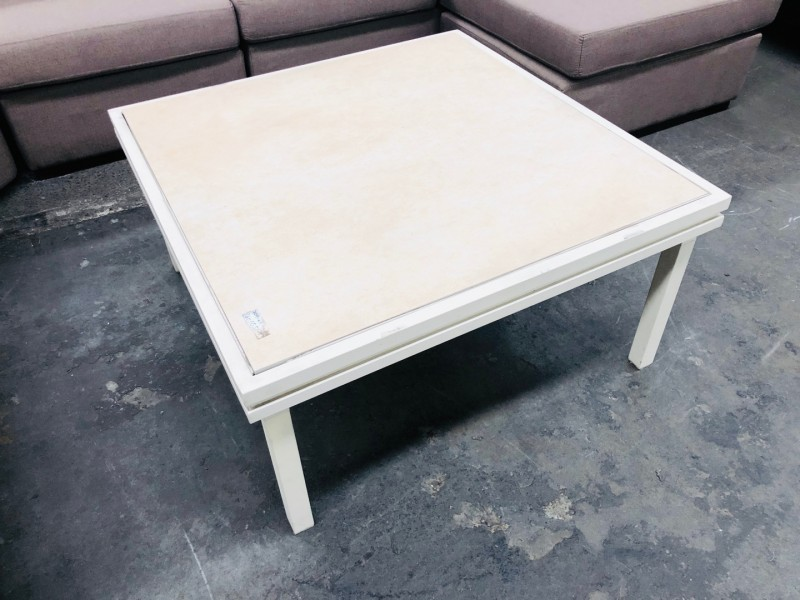 OUTDOOR TILE TOP COFFEE TABLE WITH ALUMINIUM FRAME