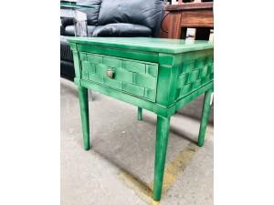 GREEN BEDSIDE CABINET