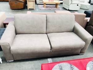 MARISSA 3 SEATER SOFABED BROWN - SECOND - NO MATTRESS (RRP $1699) -