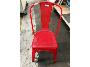 METAL MESH CHAIR - RED #MR1245R