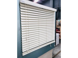 BLINDS - IVORY 1080W X 1370 DROP READY-MADE 50MM FAUXWOOD