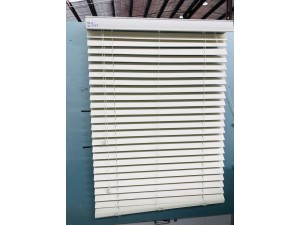 BLINDS - IVORY 840W X 1370 DROP READY-MADE 50MM FAUXWOOD
