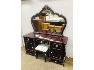 VERRA WALNUT BEAUTIFULLY CRAFTED DRESSING TABLE WITH STOOL