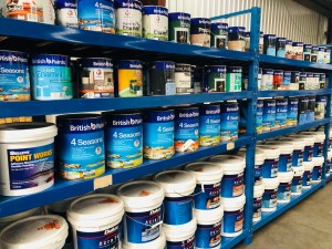 ASSORTED DULUX, BRITISH, HADRIAN, WALPAMUR PAINTS - SOLD BY THE LITRE