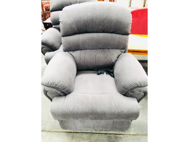 FABRIC ELECTRIC RECLINER - LECCO WARWICK LINGER JAVA #127B - FACTORY SECOND (013-24-04-20)