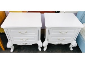 VIVIERRA WHITE BEDSIDE SOLD AS A PAIR