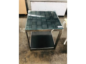 GLASS LAMP TABLE - FACTORY SECOND