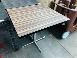 STRIPE TOP TABLE - IDEAL FOR DISPLAY OR CAFE SEATING