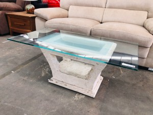 CLEOPATRA GLASSTOP COFFEE TABLE