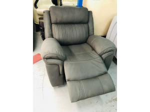 TELFORD SINGLE GLIDER/RECLINER CHAIR (20820) SLIGHT DAMAGE ON THE BACK