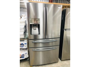 SAMSUNG 680L FRENCH DOOR FRIDGE WITH SPARKLING WATER DISPENSER SRF679SWLS - SOLD AS IS - INCLUDES 30 DAY WARRANTY FROM DATE OF PURCHASE SN:1000079311