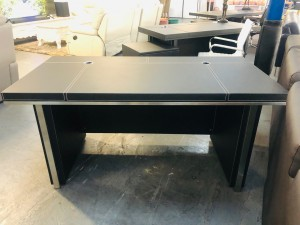 VEGAS DESK IN BLACK AND CHROME SOLD AS IS