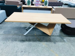 GALLERY RECTANGLE DINING TABLE (D7218) - FACTORY SECOND - SOME IMPERFECTIONS