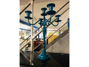 BLUE CANDLE HOLDER - BIG (EX SHOWROOM)