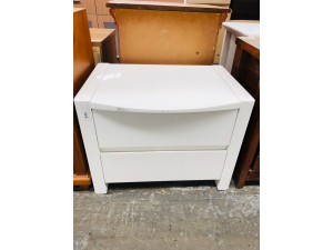 TR# WHITE BEDSIDE (F/S - SOLD AS IS)