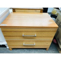 2 DRAWER BEDSIDE TABLE (BEECH)