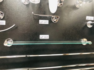 CORTO GLASS SHOWER SHELF #CGSS1