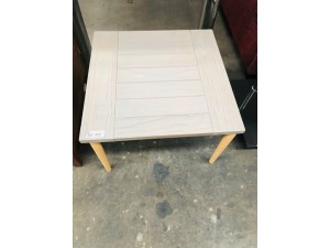 END TABLE WHITE/GREY TOP WITH BEECH LEGS