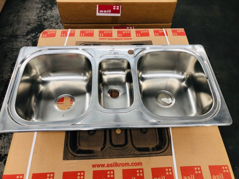 #AS75 THREE BOWL KITCHEN SINK 50X103CM