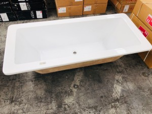 BATHTUB 1700X750X450 ACRYLIC DROP-IN BATHTUB WITH SQUARE EDGES - LARGE #M-BT004B