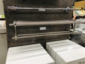 STAINLESS STEEL DOUBLE TOWEL RAIL 600X245X160 (BI-2321)
