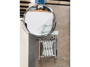 "BRASS/CHROME 8"" COSMETIC MIRROR (BI-3608)"