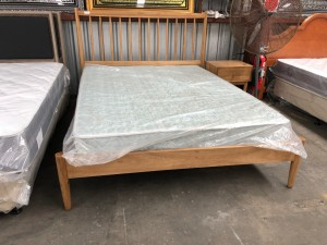 LUXE QUEEN BED PLUS 1 BEDSIDE (BA248-AQ-B) FACTORY SECOND