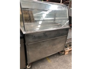 GLASS COLD BAR - NO TRAYS (SOLD AS IS)