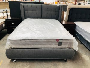 DREAMLAND DARK GREY QUEEN BED NEW