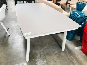 GLASS TOP DINING TABLE 1800 X 1000