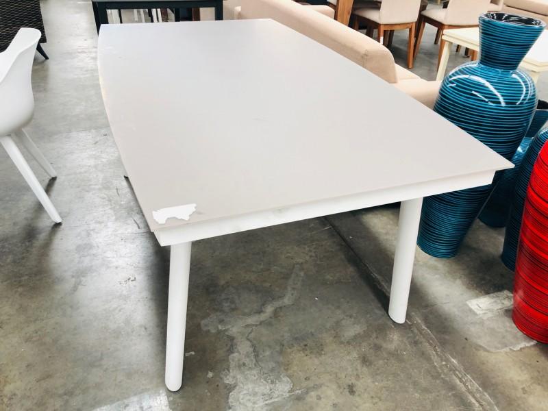 SHELTA AUSTRALIA GLASS TOP DINING TABLE 1800 X 1000