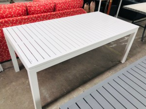 RIVER WHITE OUTDOOR DINING TABLE 1800X900