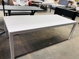 SHELTA AUSTRALIA WHITE ALUMINIUM OUTDOOR DINING TABLE 2200 X 1005