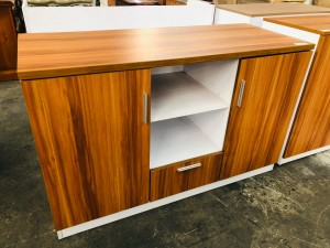 SIDE CABINET - 2 HINGED DOOR 1 DRAWER AND OPEN SHELVES #CB182