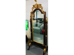 JAVA ORNATE TIMBER SWING MIRROR