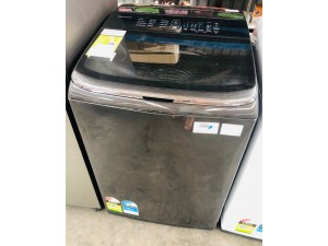 SAMSUNG 13KG BLACK S/S TOP LOADER WASHING MACHING (MODEL:WA13M8700GV) SOLD AS IS - INCLUDES 30 DAYS WARRANTY FROM THE DATE OF PURCHASE SN:107208