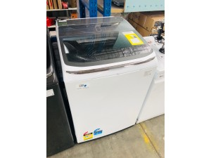 SAMSUNG WHITE 11KG TOP LOADING WASHING MACHINE (MODEL:WA11M8700GW) SOLD AS IS - COMES WITH 30 DAYS WARRANTY FROM THE DATE OF PURCHASE SN:106879