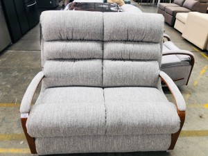 CHARLESTON 2 SEATER LOUNGE ESPRIT PEPPER RRP $1000 - BRAND NEW CLEARANCE STOCK SOLD AS IS (1-899536 SN-6334012001)