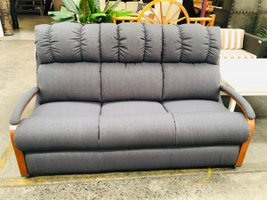 LA-Z-BOY HARBOR TOWN 3 SEATER LOUNGE DEPALMA CHARCOAL RRP$1300 - BRAND NEW CLEARANCE STOCK