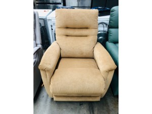 BEIGE FABRIC ROCKER RECLINER