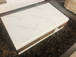GLOSS WHITE & TIMBER LOOK COFFEE TABLE