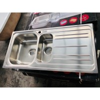 #AS16 DOUBLE BOWL KITCHEN SINK 50X100 08MM