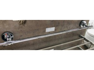 BRASS & ZINC SINGLE TOWEL RAIL (BI-2424)